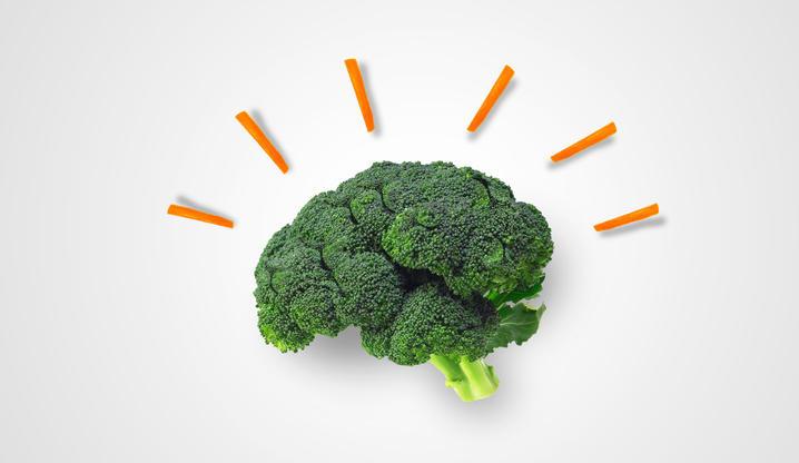 Un broccolo che ricorda la forma del cervello