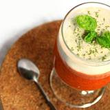 Mousse di pomodoro con salsa alla cipolla